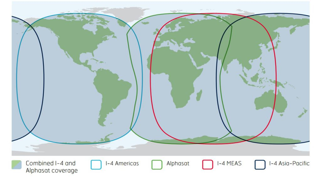 Inmarsat Fleet one Global coverage map