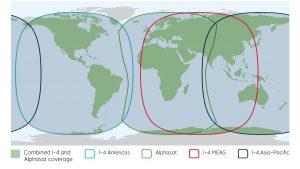 Inmarsat Fleet one Global coverage map