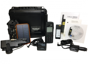 Iridium 9555 Satellite Phone Deluxe kit S3 T5000 Black