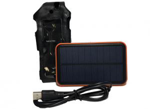 Iridium Solar charger with Leather case Kit
