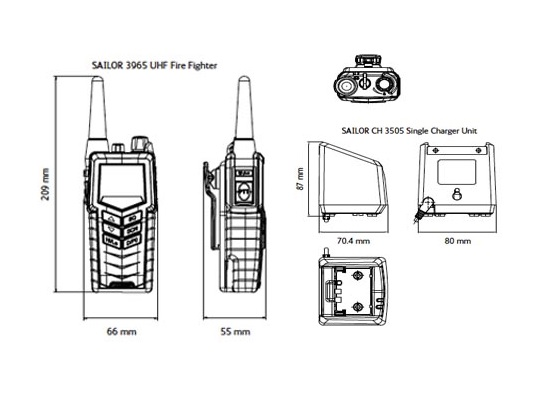 SAILOR 3965 Schematic Drawing