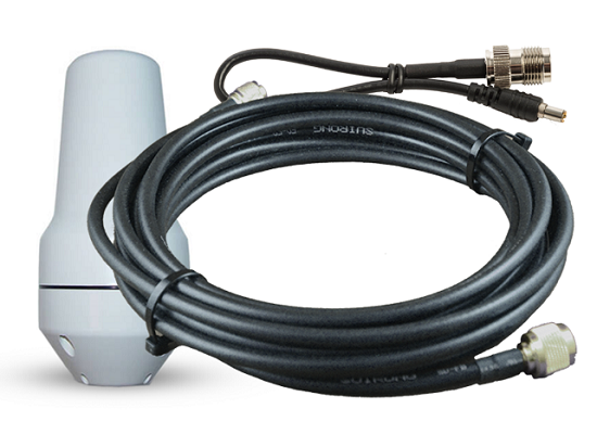Iridium LMR-400 Antenna Cable with Mast Antenna & Pigtail