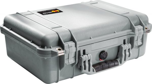 pelican-1500-silver-waterproof-case